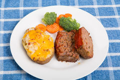 Meatloaf with Twice Baked Potato Royalty Free Stock Image