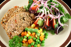 Meatloaf And Vegetables 1 Stock Image