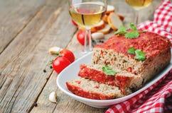 Meatloaf z cebulą, pieprzem i czosnkiem, zdjęcie stock