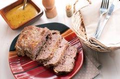 Meatloaf z czosnku sosem Obraz Royalty Free