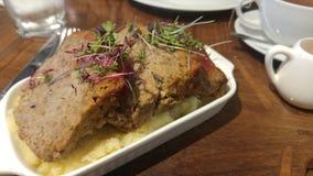 Meatloaf z puree ziemniaczane Zdjęcia Stock