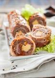 Meatloaf z serem zawijającym w bekonie bekonowy suszi Obraz Royalty Free