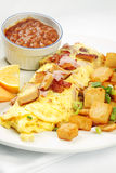 Meatlover omelet with beans Stock Photo