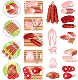 meatprodukter Arkivfoton