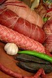 meatprodukter rökte royaltyfri bild