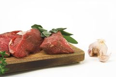 Meats And Garlic Stock Photos