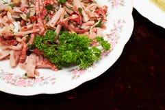 meatsallad Arkivfoton
