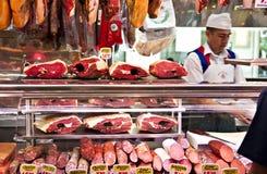 meatstand arkivbilder