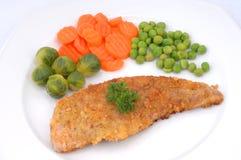 meatstekgrönsaker Arkivbild