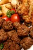 meatuppläggningsfat Royaltyfri Foto