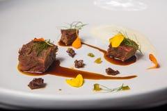Meaty kokkonst Arkivfoto