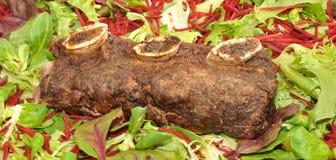 Meaty steknötköttstöd royaltyfri bild