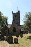 Meavy村庄教会Dartmoor 库存照片
