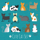 Meaw Set Vector Royalty Free Stock Photography