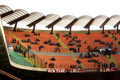 Meazza stadium in Milan. Tribune of the stadium with few supporters Stock Photo