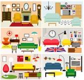 Meblarscy pomysły dla żyć pokój Zdjęcie Stock