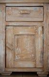 Meblarska część Zbliżenie drewniany kuchenny gabinet Zdjęcie Royalty Free