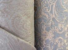 Meblarska tkanina w rolce jacquard zdjęcia stock