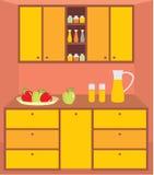 meblarska wewnętrzna kuchnia ilustracji