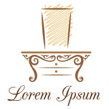 Meblarski biznesu lub piękna przemysłu logo Fotografia Stock