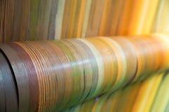 Meblarski drewniany fornirowy inkasowy zbliżenie Zdjęcia Royalty Free