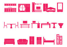 meblarskie domowe ikony Obraz Stock