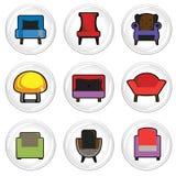 meblarskie ikony Obrazy Stock