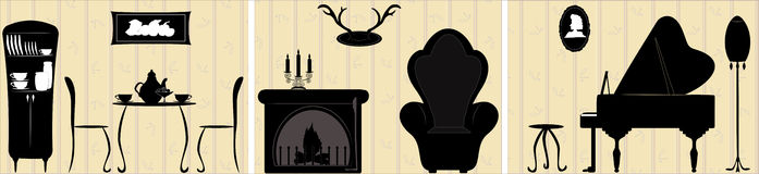 Meble i Domowi akcesoria Obrazy Royalty Free