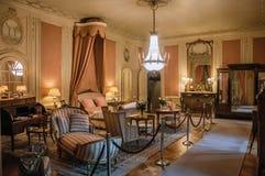 Meble w luksusowej De Haar Roszujący sypialni blisko Utrecht, Obrazy Royalty Free