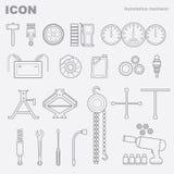 Mecánico automotriz del icono Fotos de archivo
