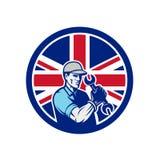 Mecánico de automóviles británico Union Jack Flag Icon stock de ilustración