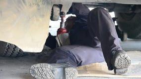 Mecánico de coche automotriz de motor almacen de video
