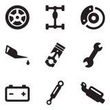Mecánico de coche Icons Imágenes de archivo libres de regalías