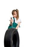 Mecánico de la chica joven Foto de archivo