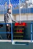 Mecánico de las personas de Mercedes del Fórmula 1, 2013 Imagen de archivo libre de regalías