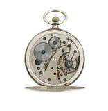 Mecánico de los relojes de bolsillo aislado. Imágenes de archivo libres de regalías