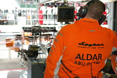 Mecánico de Spyker F1 Imagen de archivo