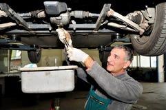 Mecánico en el trabajo. Imagenes de archivo