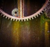 Mecánico Rusty Gears de la máquina Imagen de archivo libre de regalías
