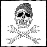 Mecánico Skull Poster Imagenes de archivo