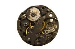 Mecánico viejo del mecanismo Ciérrese para arriba, tiro macro El vintage adapta VI foto de archivo