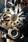 Mecánicos de un motor Fotografía de archivo