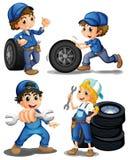 Mecánicos enérgicos stock de ilustración