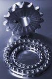 Mecánicos en aún-vida azul Imagen de archivo
