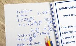Mecânica quântica Imagem de Stock