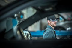 Mecânico automotivo da profissão imagens de stock royalty free