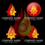 Mecânico Concept Logo do fogo da engrenagem Foto de Stock Royalty Free