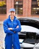 Mecânico de carro masculino Foto de Stock Royalty Free
