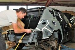 Trabalhador do corpo de carro. Fotografia de Stock