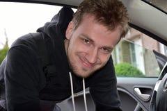 Mecânico de carro novo Imagem de Stock Royalty Free